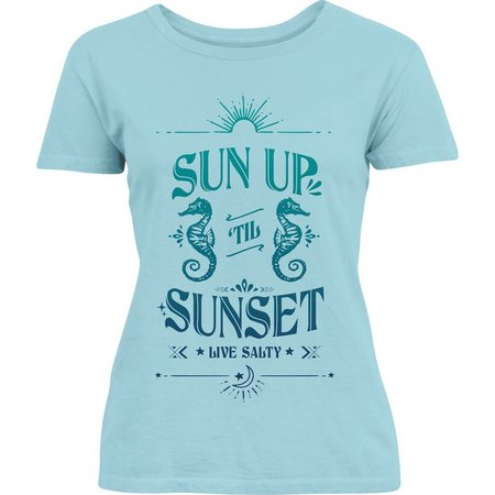 Salt Life Juniors Sun Up Til Sunset T-Shirt