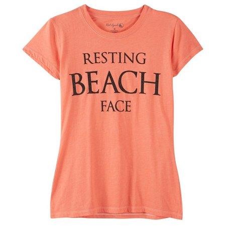 Reel Legends Juniors Resting Beach Face T-Shirt