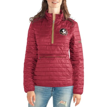 Florida State Juniors Zip Front Puff Jacket