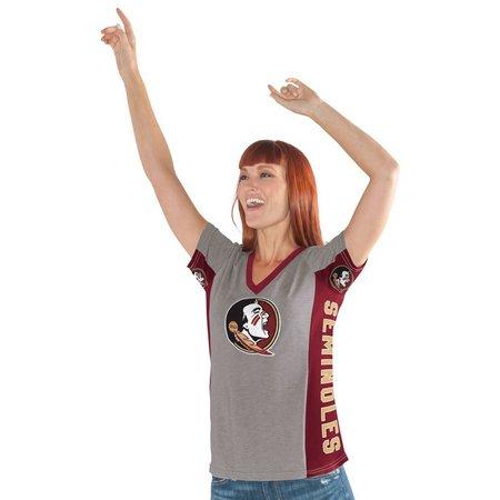 Florida State Juniors V-Neck Mascot Print T-Shirt