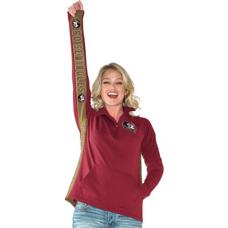 Florida State Juniors Colorlock Zip Pullover Top