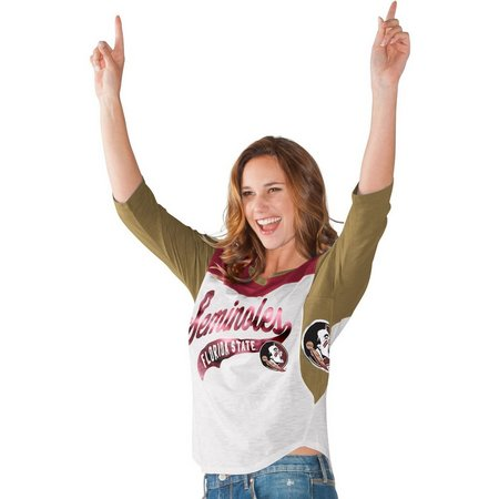Florida State Juniors 3/4 Sleeve Colorbock T-Shirt