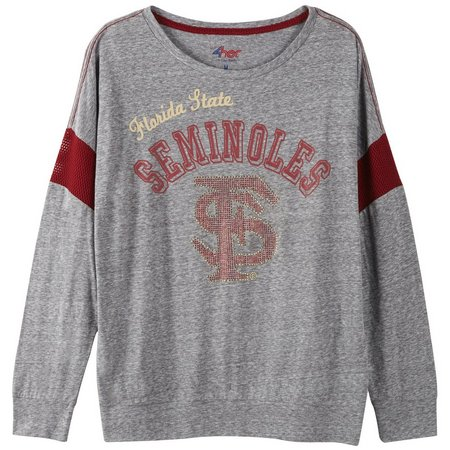 Florida State Juniors Pregame Mesh Sleeve Top
