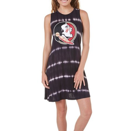 Florida State Juniors Tie Dye Mascot Tank Dress