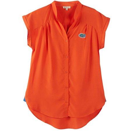 Florida Gators Juniors Woven Short Sleeve Shirt