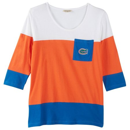 Florida Gators Juniors Colorblock Pocket T-Shirt