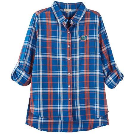 Florida Gators Juniors Plaid Long Sleeve Shirt