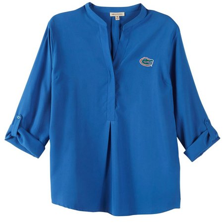 Florida Gators Juniors Button Up Woven Solid Top