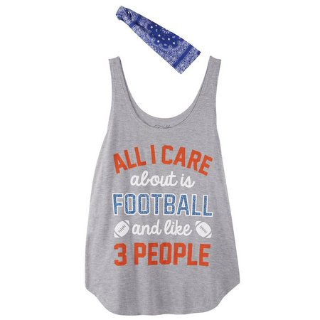 Hybrid Juniors Bandana & Glitter Football Tank Top