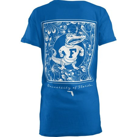 Florida Gators Juniors Floral Block Screen T-Shirt