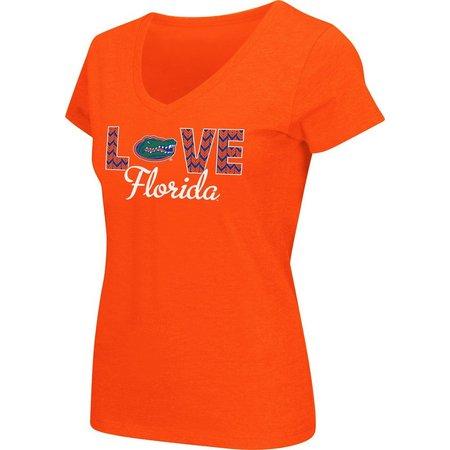 Florida GatorsJuniors UF Chevron Love T-Shirt