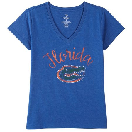 Florida Gators Juniors Script Screen Print T-Shirt