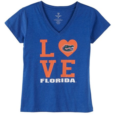 Florida Gators Juniors UF Love Heart T-Shirt
