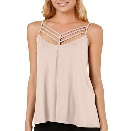 Poof Juniors Strappy Front Cami Tank Top