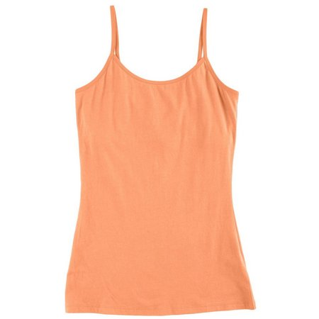 Derek Heart Juniors Solid Shelf Bra Cami Tank