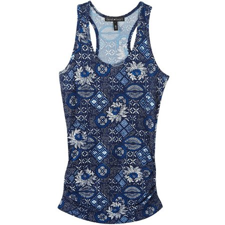 Derek Heart Juniors Floral Dot Print Tank Top