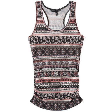 Derek Heart Juniors Geometric Floral Tank Top