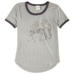 Hybrid Juniors Elephant Screen Print Knit T-Shirt