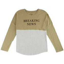 Hybrid Juniors Breaking News Print T-Shirt