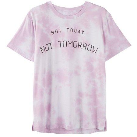 Hybrid Juniors Tie Dye Screen Print T-Shirt
