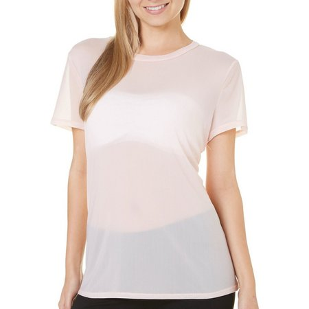 Be Bop Juniors Solid Mesh Top