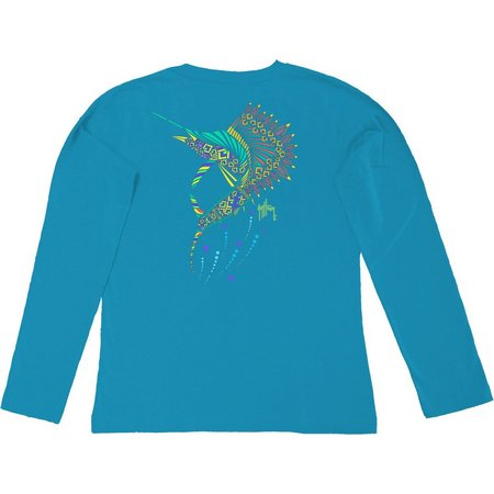 Guy Harvey Womens Sailfish Long Sleeve T-Shirt