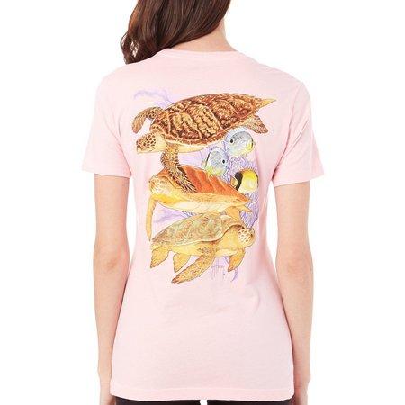 Guy Harvey Womens Caymen Turtle Reef T-Shirt