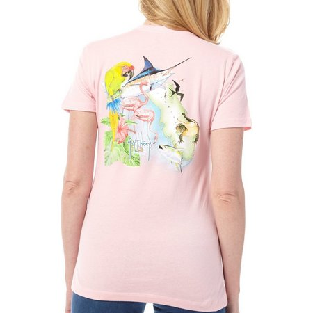 Guy Harvey Womens Florida Icons T-Shirt