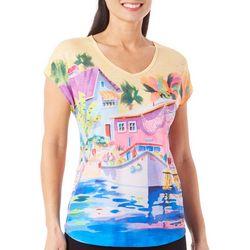 Ellen Negley Womens Ship Shape V-Neck T-Shirt