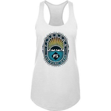 FloGrown Juniors Surf Oval Raceback Tank Top