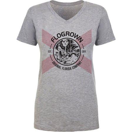 FloGrown Juniors Florida Flag Seal Heather T-Shirt