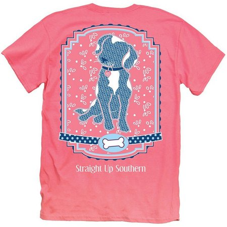 Its a Girl Thing Juniors Patterned Dog T-Shirt
