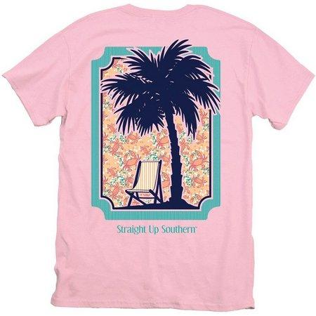 Its a Girl Thing Juniors Palm Tree T-Shirt