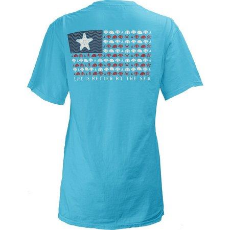 Royce Apparel Juniors Nautical Flag T-Shirt