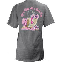 New! Royce Apparel Juniors Beach Bag T-Shirt
