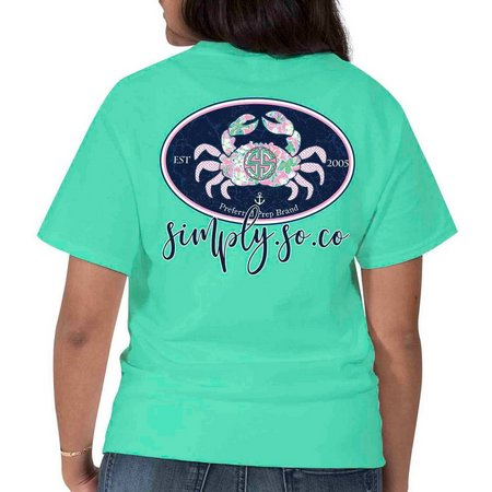 Simply Southern Juniors Patterned Crab T-Shirt