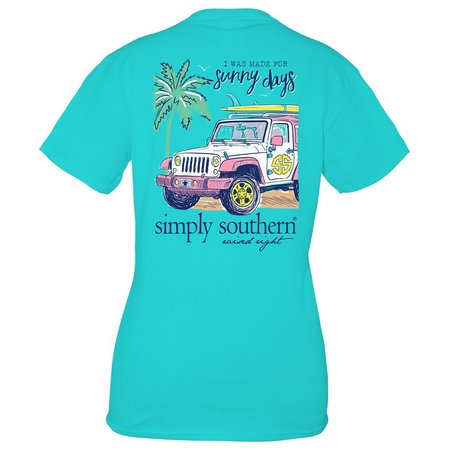 New! Simply Southern Juniors Jeep Sunny Days T-Shirt