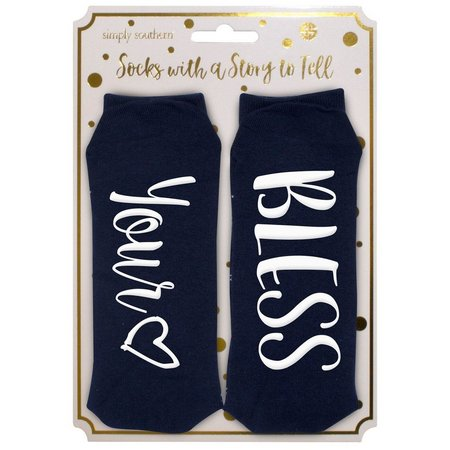 Simply Southern Bless Your Heart Crew Socks