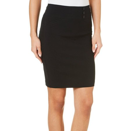 Joe Benbasset Juniors Three Button Pencil Skirt