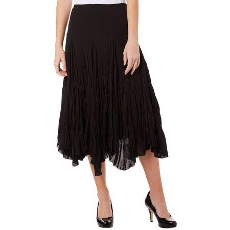Moa Moa Juniors Solid Semi Sheer Crinkle Skirt