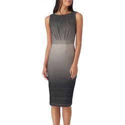 Beige by ECI Womens Ombre Flocked Velvet Dress