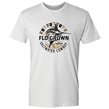 FloGrown Mens Saltwater Cowboy Circle T-Shirt