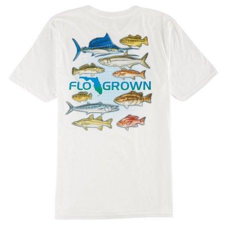 FloGrown Mens Top 10 Fish T-Shirt