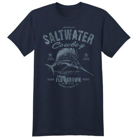 FloGrown Mens Saltwater Cowboy Sailfish T-Shirt
