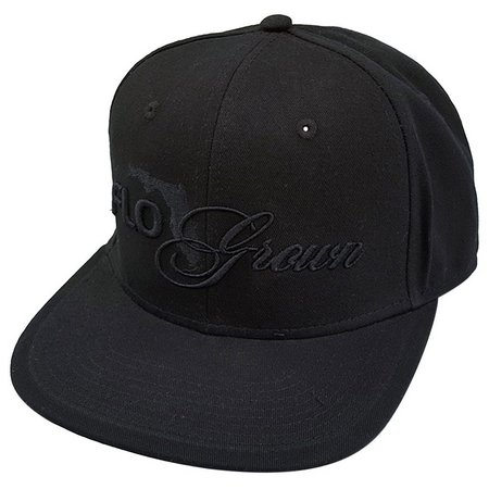 FloGrown Mens Black On Black Script Hat