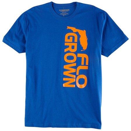 FloGrown Mens Royal & Orange T-Shirt