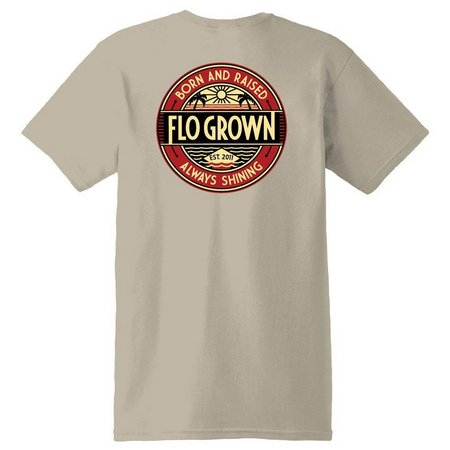 FloGrown Mens Born & Raised Always Shining T-Shirt