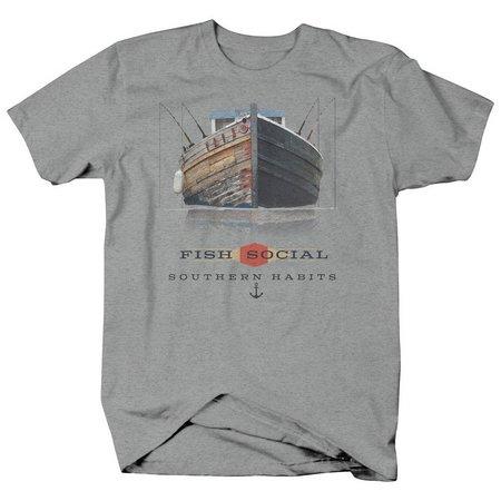 Authentic Classics Mens Fish Social T-Shirt