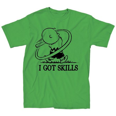 Charlie Brown Mens I Got Skills T-Shirt