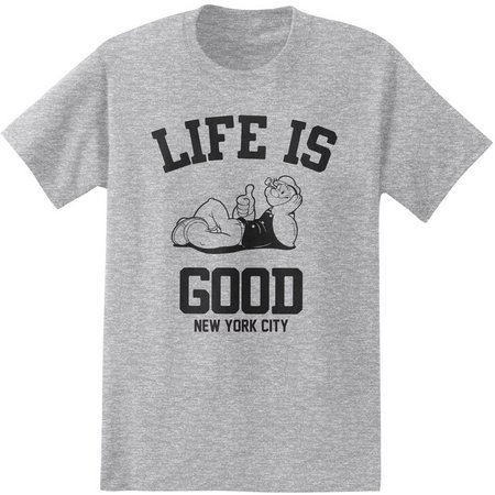Popeye Mens Life Is Good T-Shirt